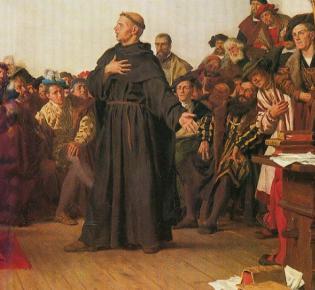Luther auf dem Reichstag zu Worms, Anton Werner (1877, Kopie eines Wandgemäldes)