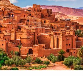 Blick auf Ait Benhaddou, Marokko