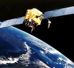 GPS-Satellit in der Umlaufbahn