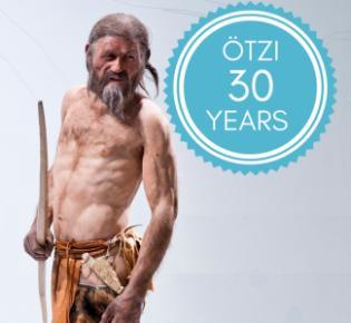 Ötzi-Rekonstruktion im Südtiroler Archäologiemuseum