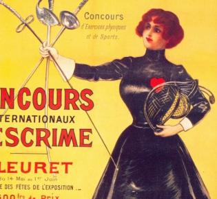 Poster zu den Olympischen Spielen 1900 in Paris