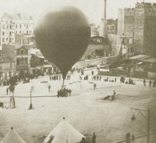 Ballonstart im belagerten Paris
