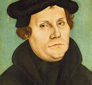 Luther Bildnis aus der Werkstatt Lucas Cranachs des Älteren, 1529