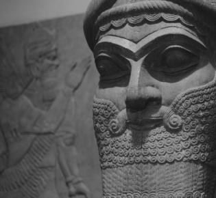 Lamassu aus dem Palast des Königs Ashurnasirpal, Metropolitan Museum of Art