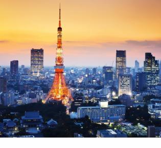 Tokyo Tower, Fernsehturm in Stahlfachwerk