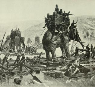 Hannibal überquert die Rhone, Charles F. Horne, 1894