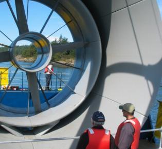 Turbine eines Gezeitenkraftwerks