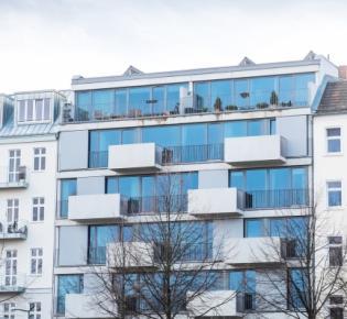 Modernes Apartmentgebäude