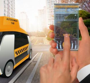 Herbeirufen eines autonomen Taxis