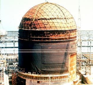 Abriss eines Reaktorgebäudes