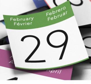 Kalenderblatt 29. Februar