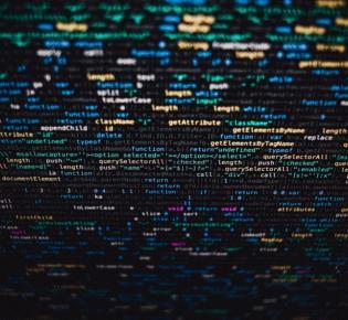 Bildschirm mit Programmcode