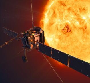 Raumsonde Solar Orbiter in Sonnennähe