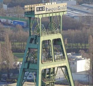 Schachtanlage Franz Haniel 1/2 der Zeche Prosper Haniel in Bottrop