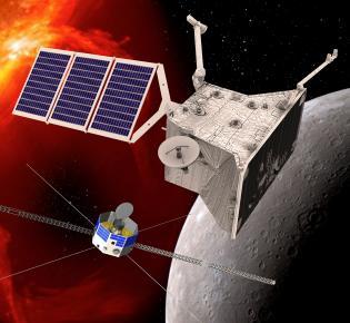 Orbiter von BepiColombo am Merkur