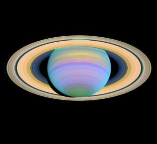 UV-Aufnahme des Ringplaneten Saturn