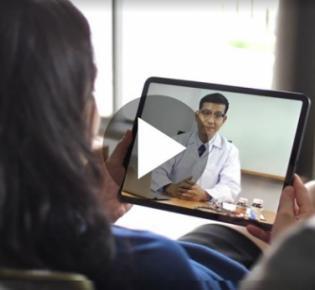 Ärtzliche Online-Visite per Laptop
