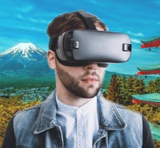 Symbolbild VR-Reisen