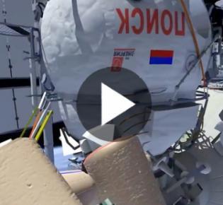 Russisches Forschungsmodul MRM-2 or ПOИCK an der ISS