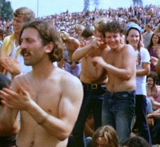 Besucher des Woodstock Festivals