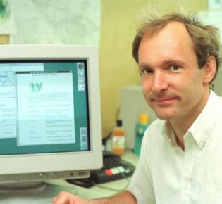 Sir Tim Berners-Lee als junger Physiker am CERN
