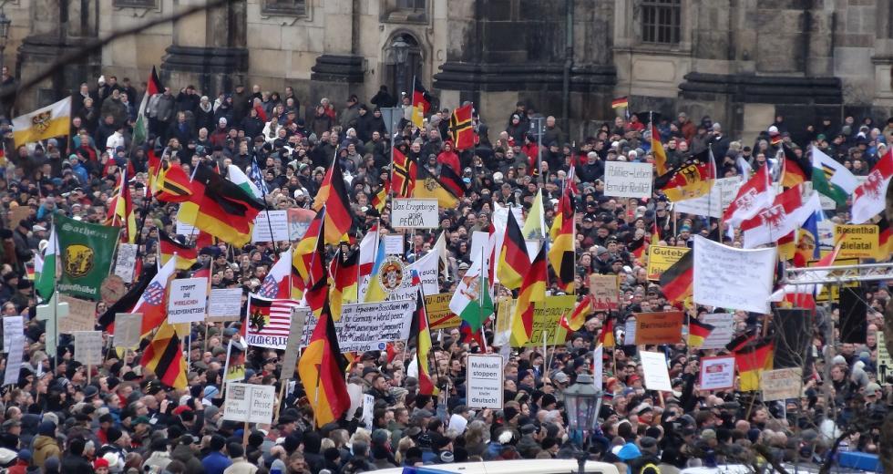 Pegida-Demo in Dresden, 25. Januar 2015