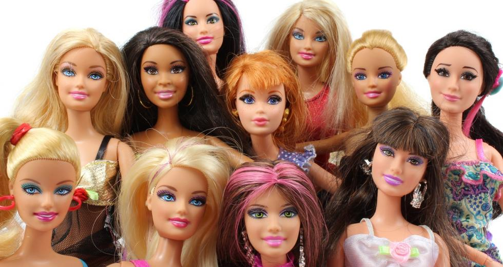 Auswahl von Barbiepuppen