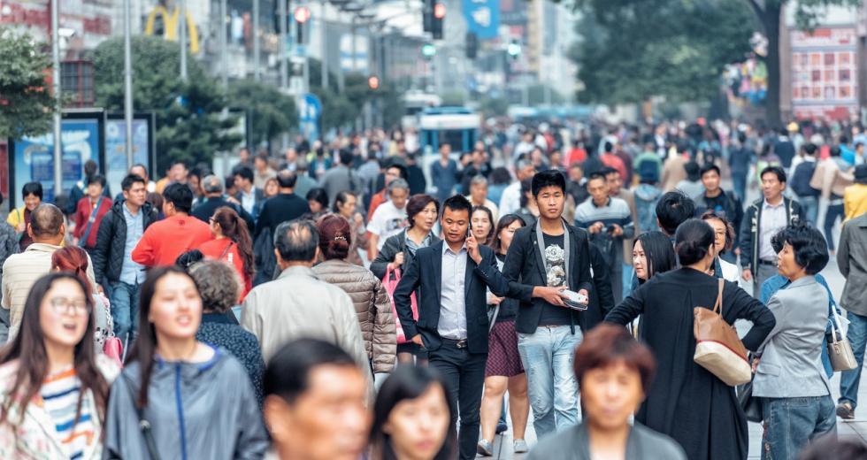 Straßenszene in Shanghai