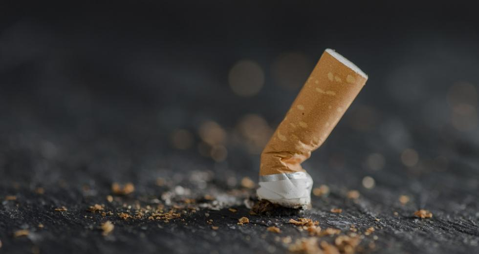 Ausgedrückte Zigarettenkippe