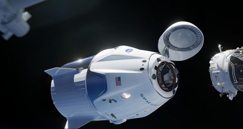 Andockmanöver einer Dragon-Kapsle an der ISS