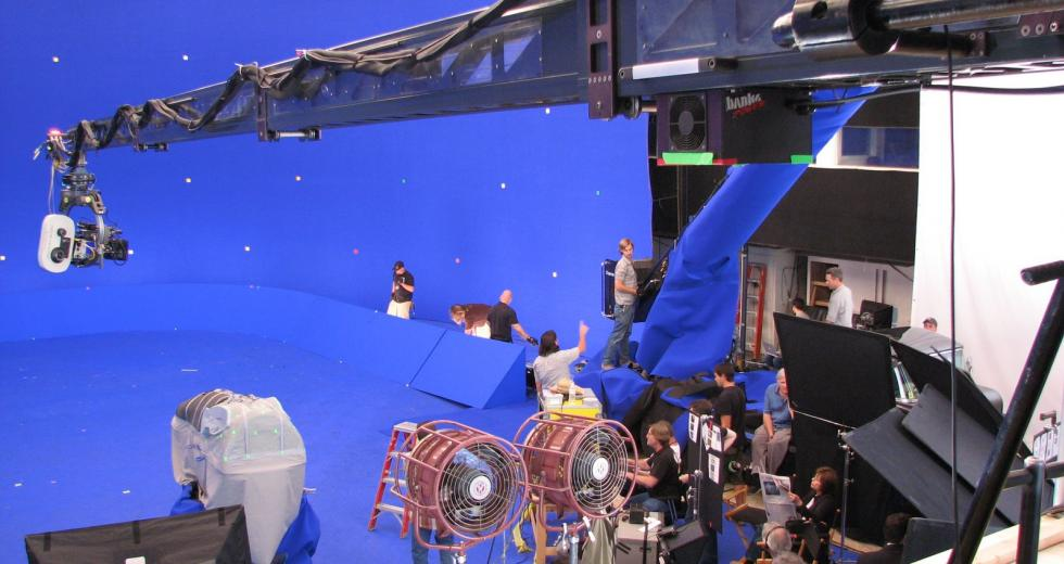 Blue Screen set for The Spiderwick Chronicles (2008)
