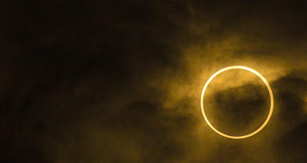 Ringförmige Sonnenfinsternis in Matsudo, Chiba, Japan, Mai 2012