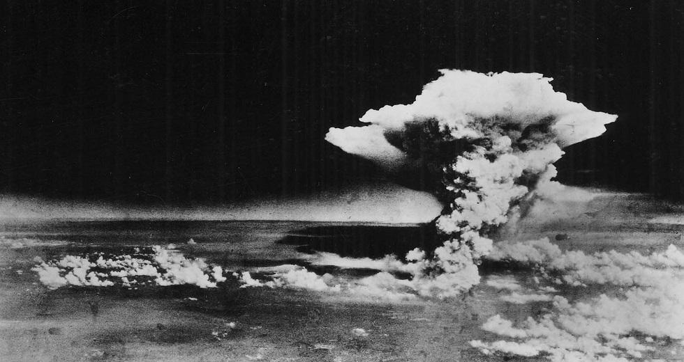 Aufnahme des Atompilzes über Hiroshima am 6. August 1945.