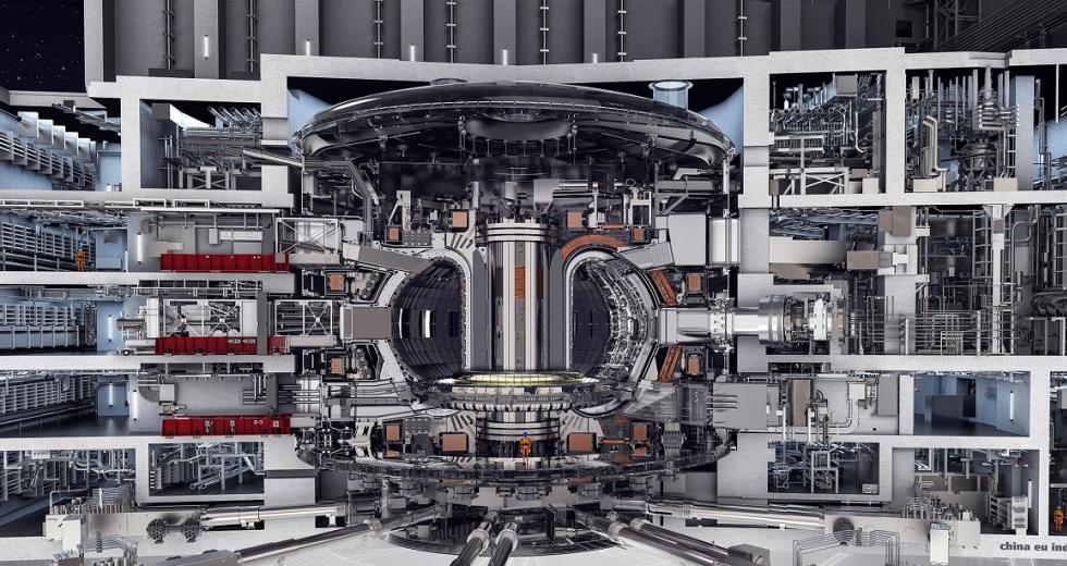 Querschnitt durch das ITER-Reaktorgebäude