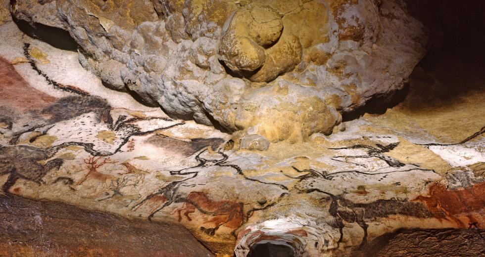 Saal in der Höhle von Lascaux