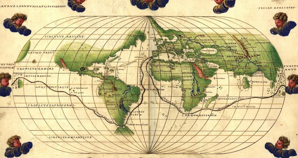 Weltkarte von Battista Agnese, 1544