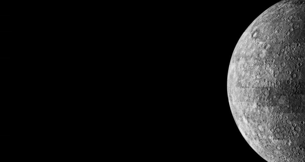 Merkur-Aufnahmen der NASA-Sonde Mariner 10, 1974