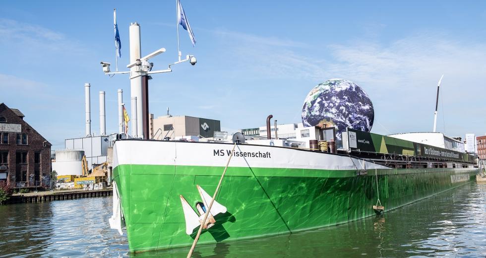 MS Wissenschaft im Hafen von Münster, 2020