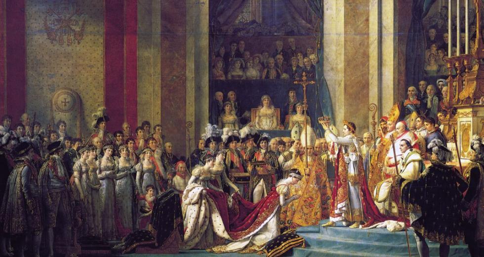 Die Krönung in Notre Dame, Gemälde von Jacques-Louis David 1806–1807)