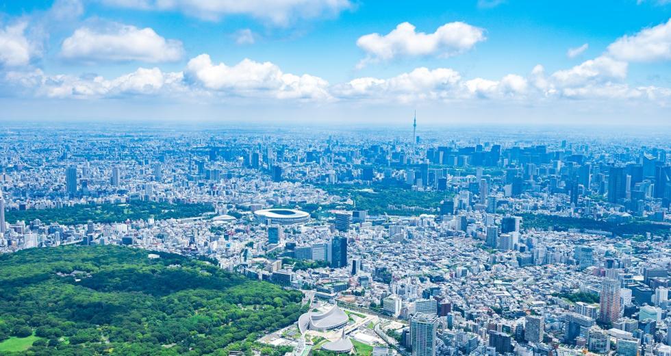 Blick über Toyko-Shibuya