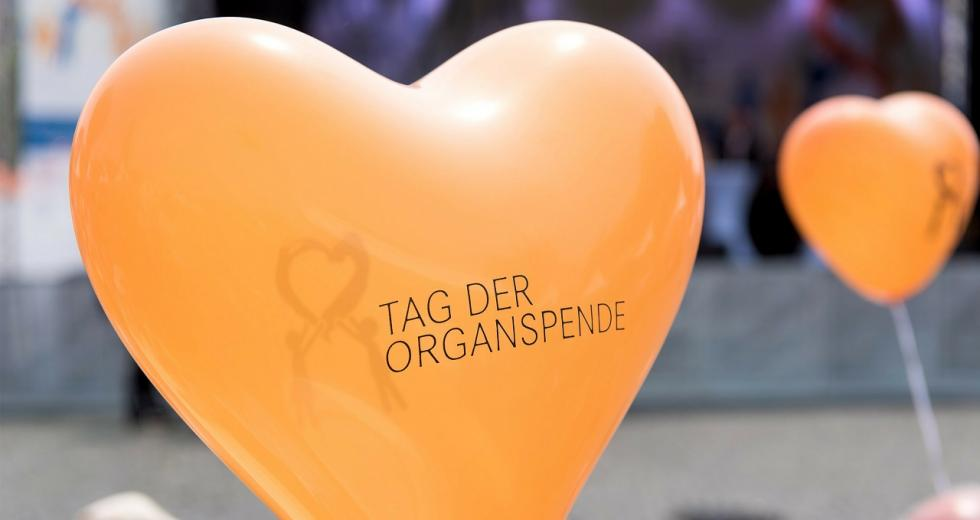 Tag der Organspende, Luftballons in Herzform