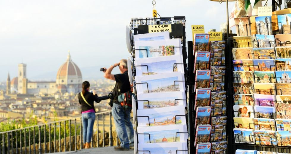 Aussichtspunkt mit Blick auf Florenz und seinen Dom