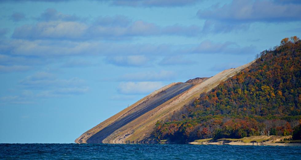 Dünenküste auf der Ostseite des Lake Michigan