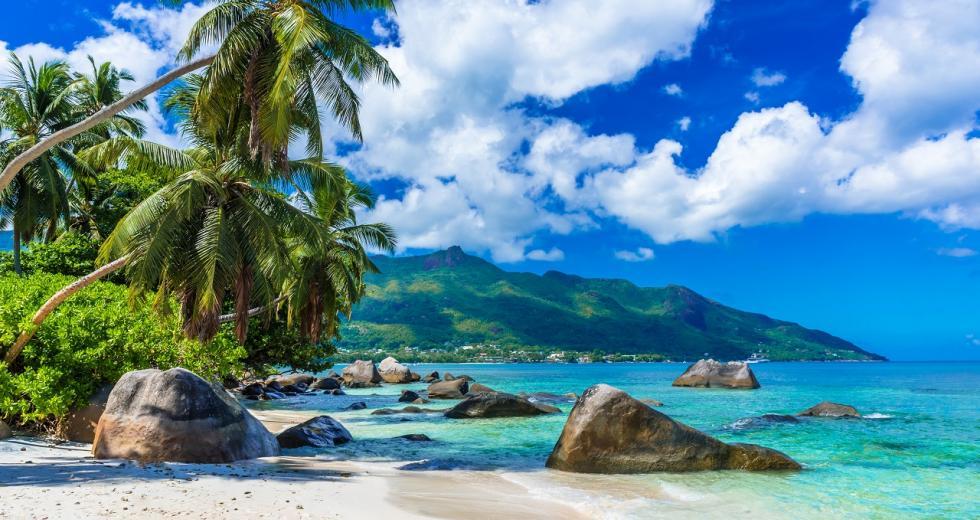 Baie-Beau-Vallon-Strand auf Mahe, Seychellen