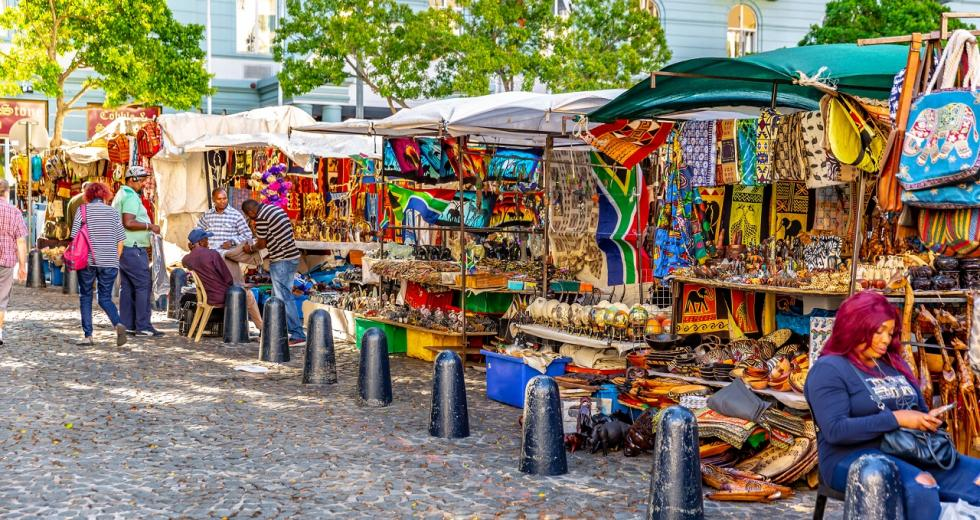 Straßenmarkt in Südafrika