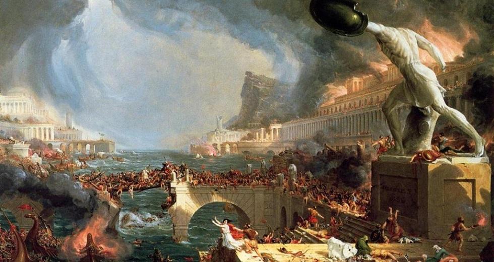 Der Lauf des Imperiums – Zerstörung, Gemälde von Thomas Cole
