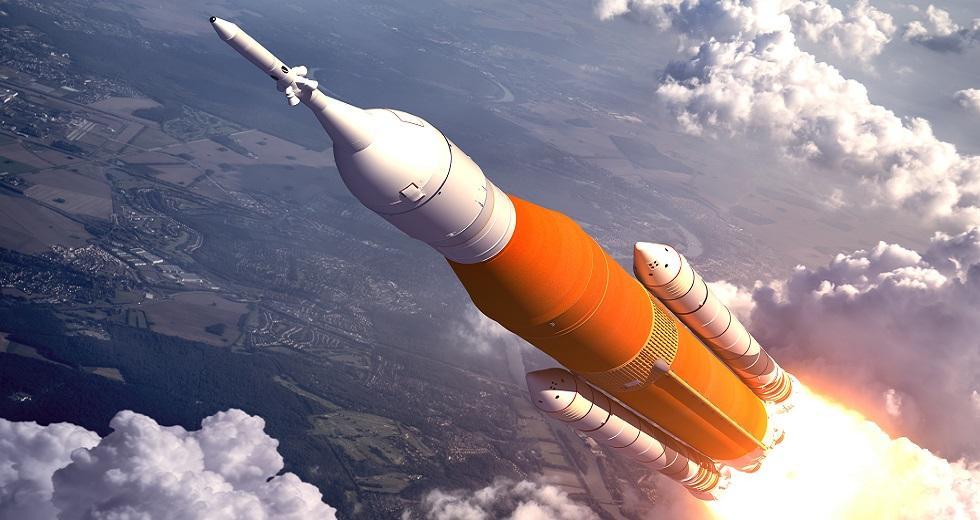Rakete kurz nach dem Abheben