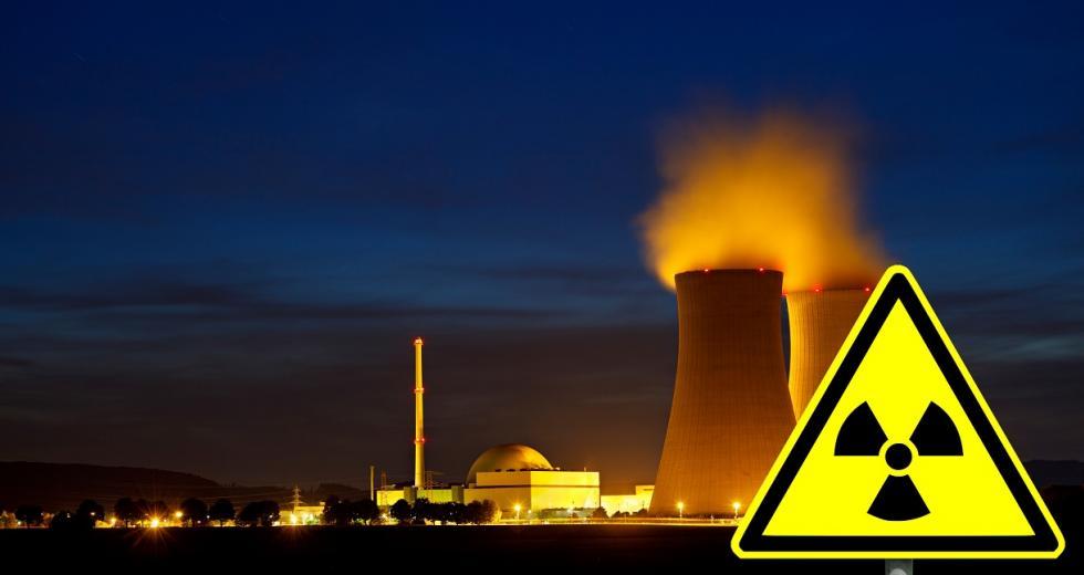 Nachaufnahme eines Kernkraftwerkes
