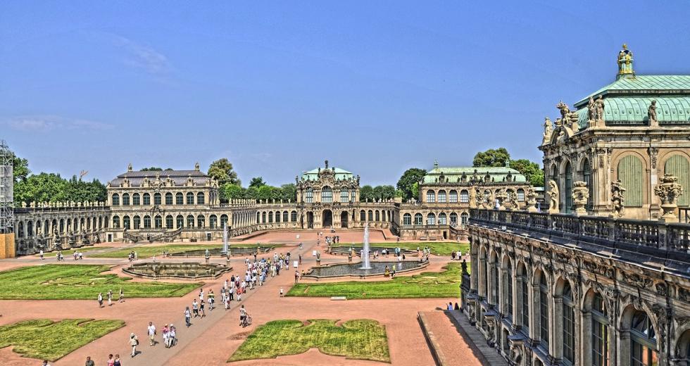 Blick in Hof des Dresdener Zwingers