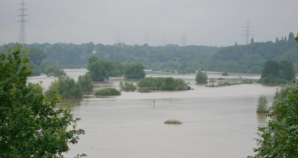 Ruhrhochwasser zwischen Bochum und Hattingen, Juli 2021